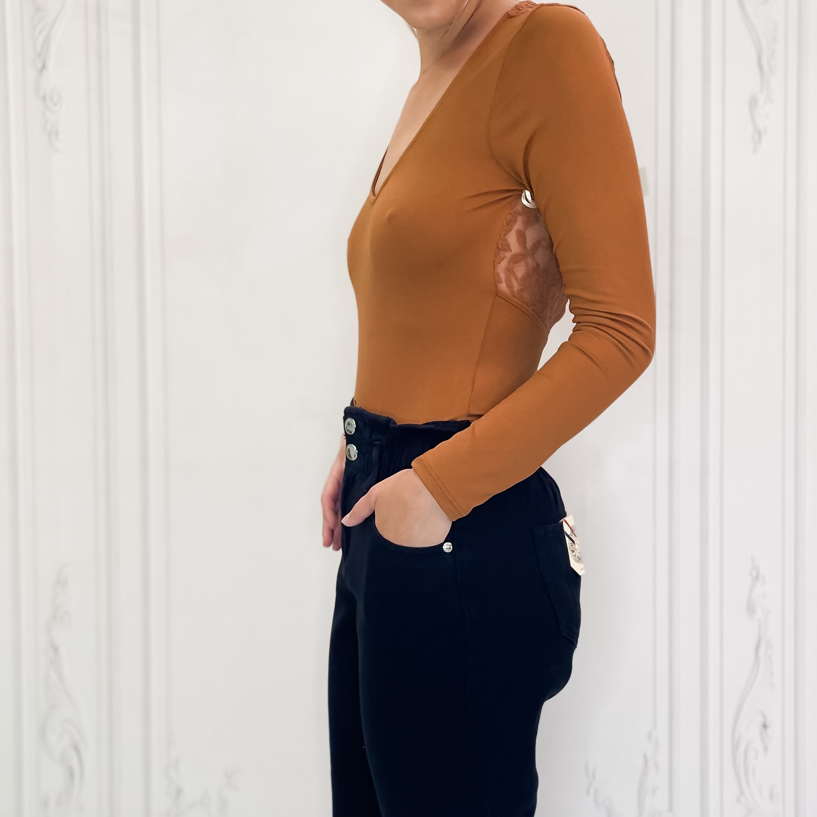 Izabella long sleeve bodysuit