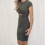 Havie twist front fitted dress