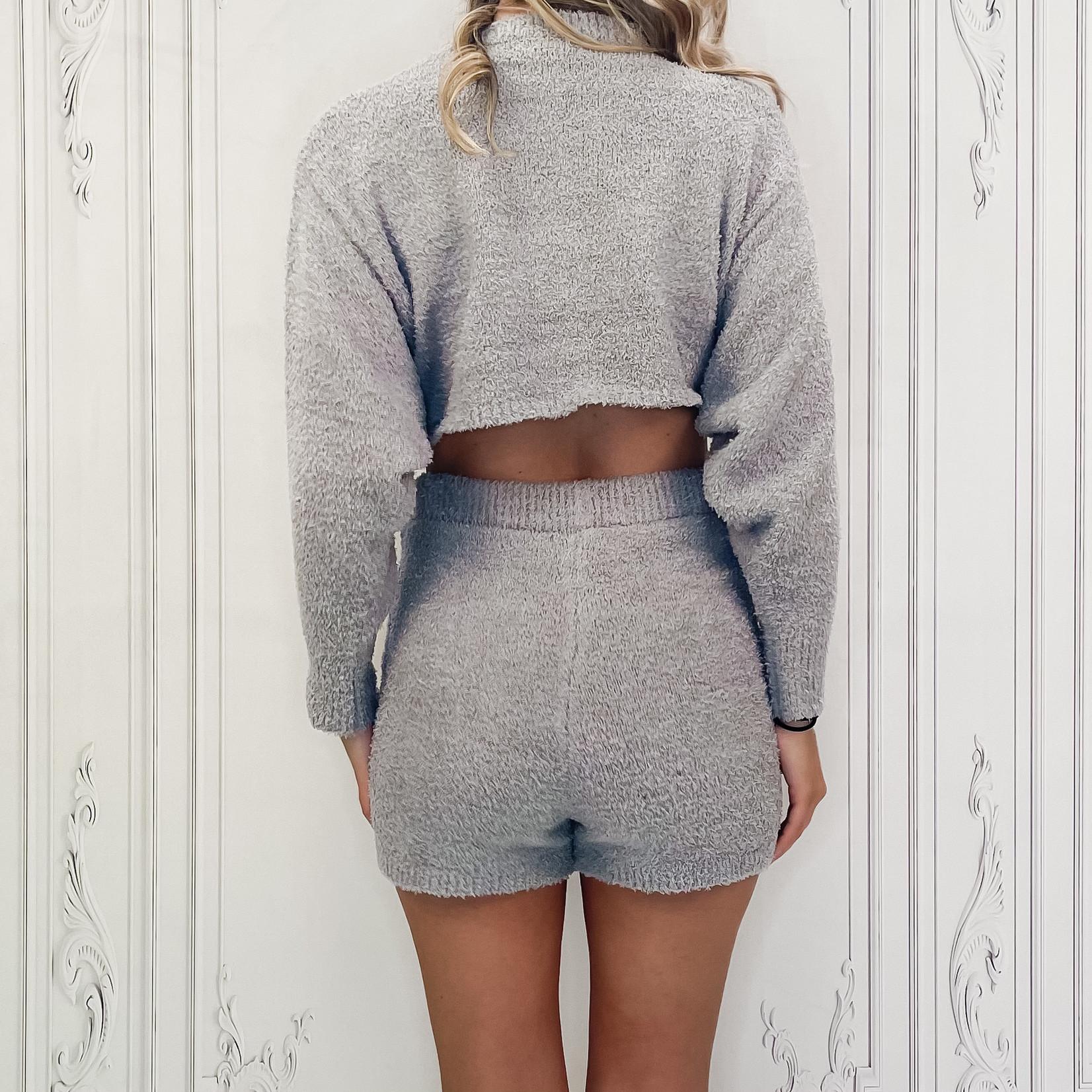 Indie knit shorts lounge set