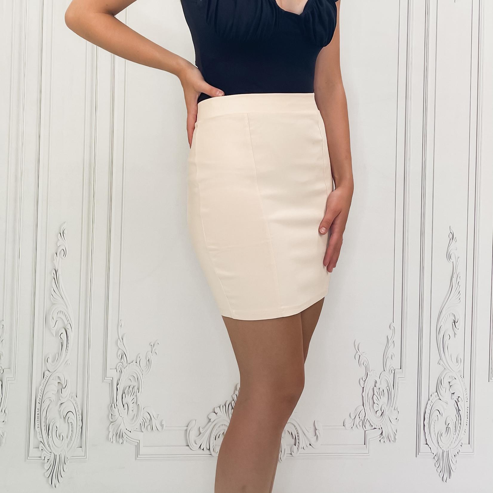 Idelle stretch denim skirt