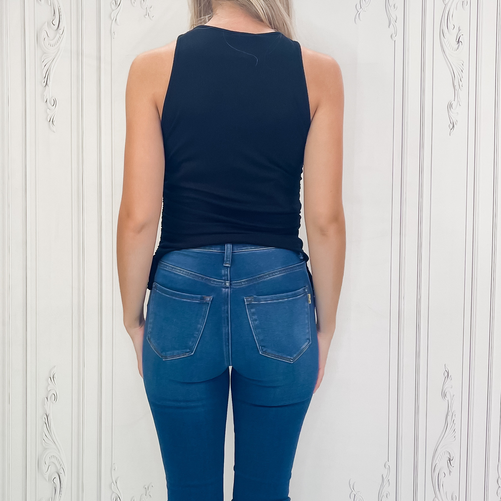 Helen side ruched tank