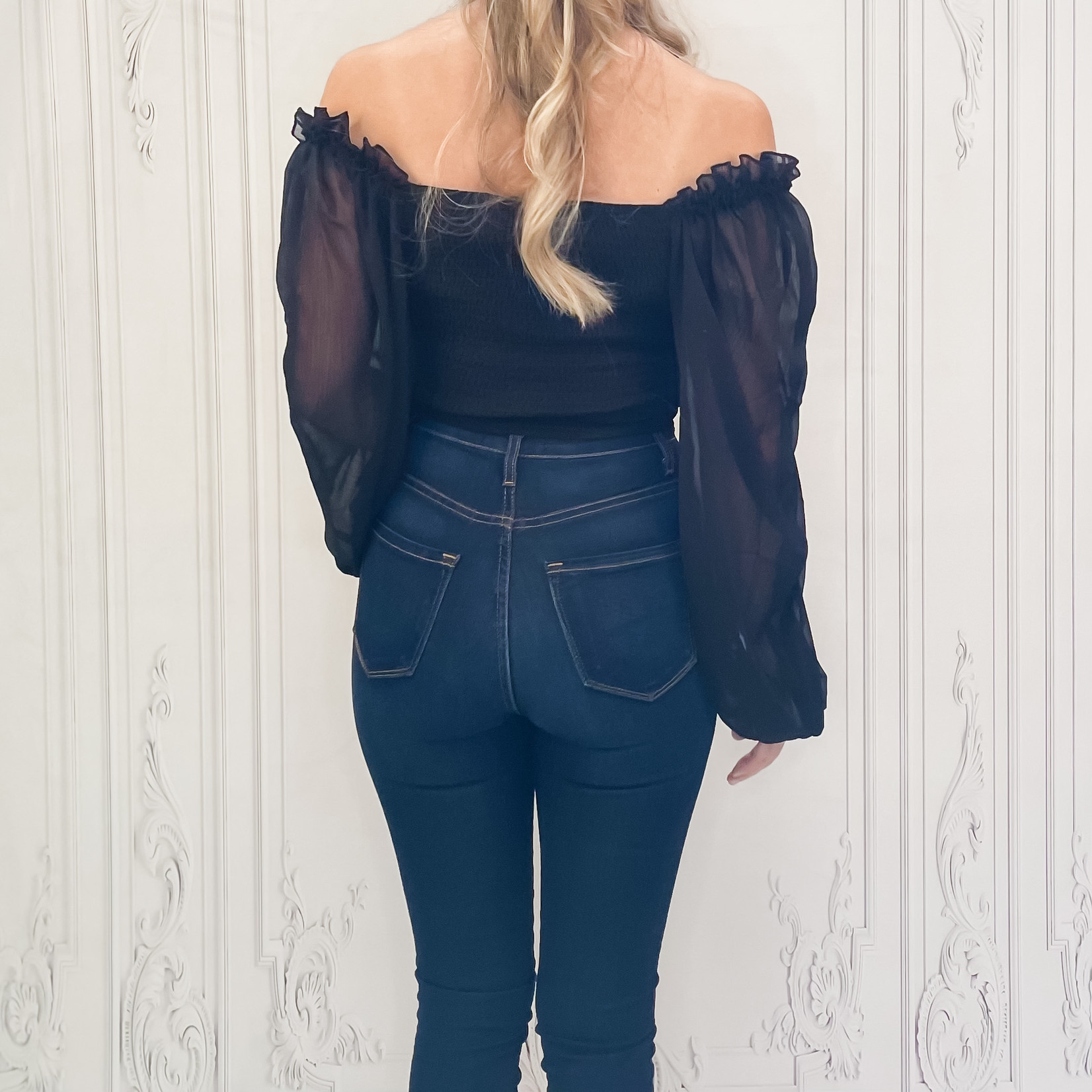 Hepburn smock back blouse