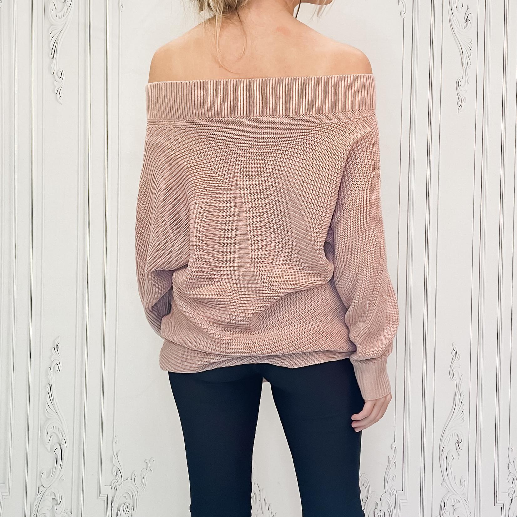 Sierra off shoulder slouch sweater