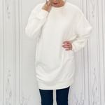 Helen fuzzy tunic sweatshirt