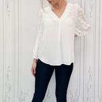 Syd polka dot sleeve blouse