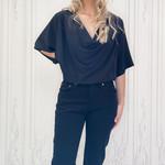 Cassidy drape front blouse