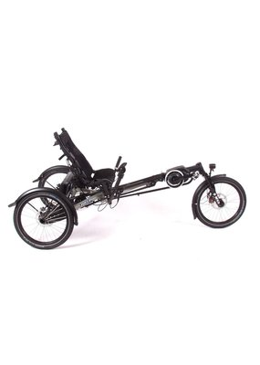 HASE Hase KETTWIESEL EVO Steps - mat gray - full suspension - foldable