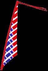 Sail Bike Flag Non Reflective Red & Blue