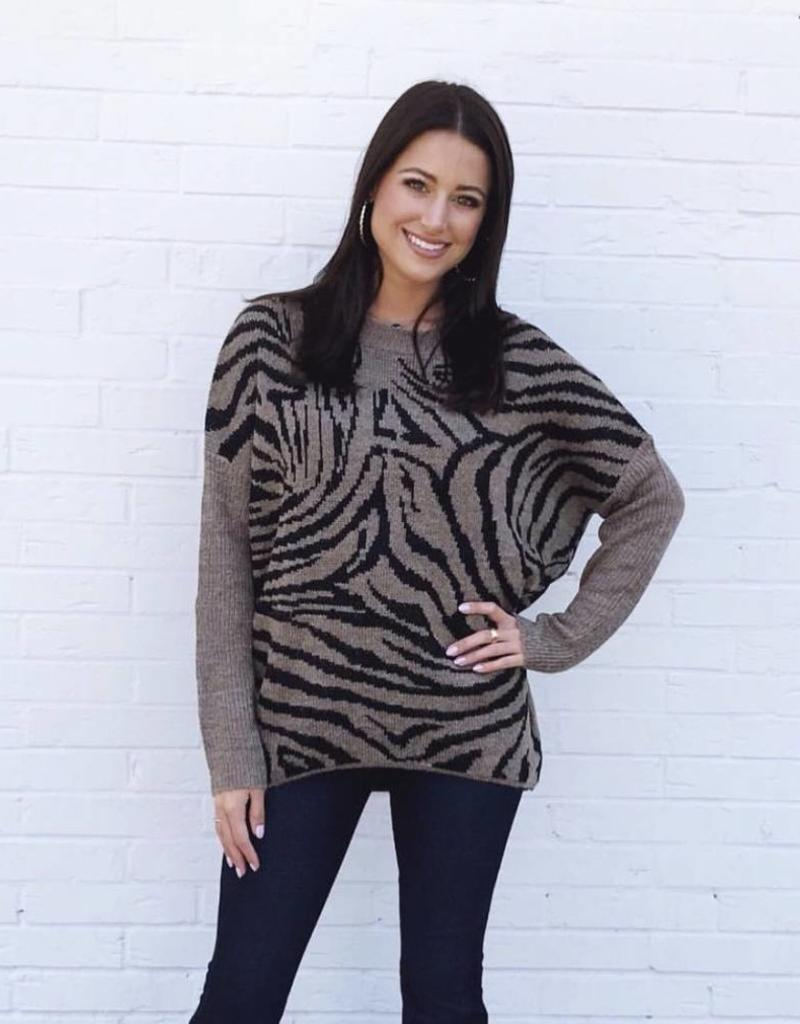 Tiger Stripes Sweater Mocha