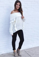 Ruffle Your Feathers Sweater Oatmeal
