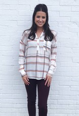 Mad For Plaid Top Ivory