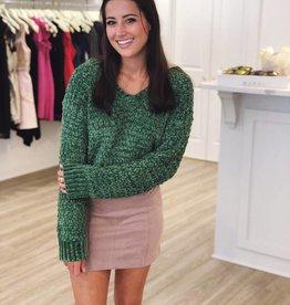 Merry & Bright Sweater Green