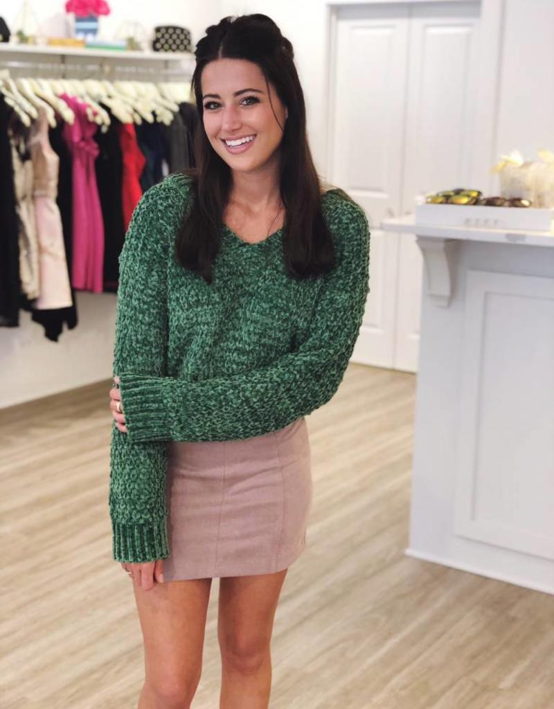 Merry & Bright  Sweater Green