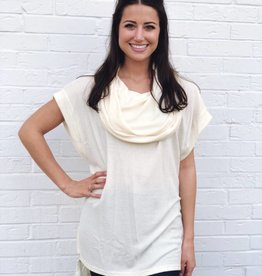 Crazy for Cowl Tunic Top Ivory