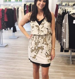 Adelyn Rae Best Dressed Guest Dress Cream/Black