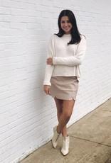 Sally Suede Skirt Blush