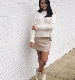 Sally Suede Skirt Blush