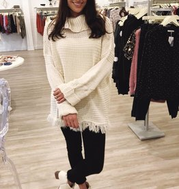 On The Fray Sweater Cream