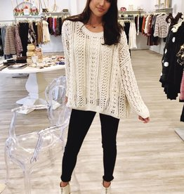 Yay For Crochet Sweater Cream