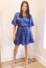 Lost + Wander Comet Blue Ruffle Dress