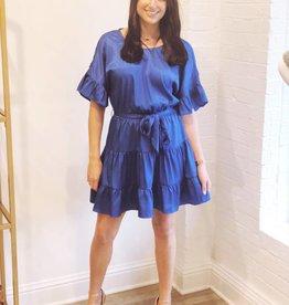 Lost + Wander Comet Blue Ruffle Dress