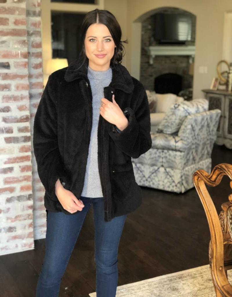 Warm & Fuzzy Jacket Black