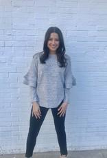 Pretty In Pearls Sweater Grey