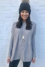 Bundle Up Sweater Grey