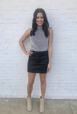 Lulu Leather Skirt Black