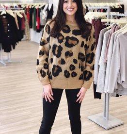 Fuzzy Cheetah Sweater