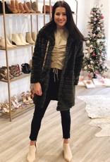 Buddy Love Aspen Fur Jacket Olive