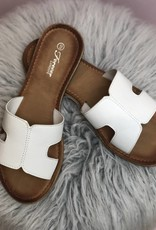 Harlow H Strap Sandal White