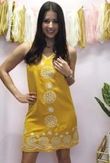 Lets Fiesta Dress Mustard