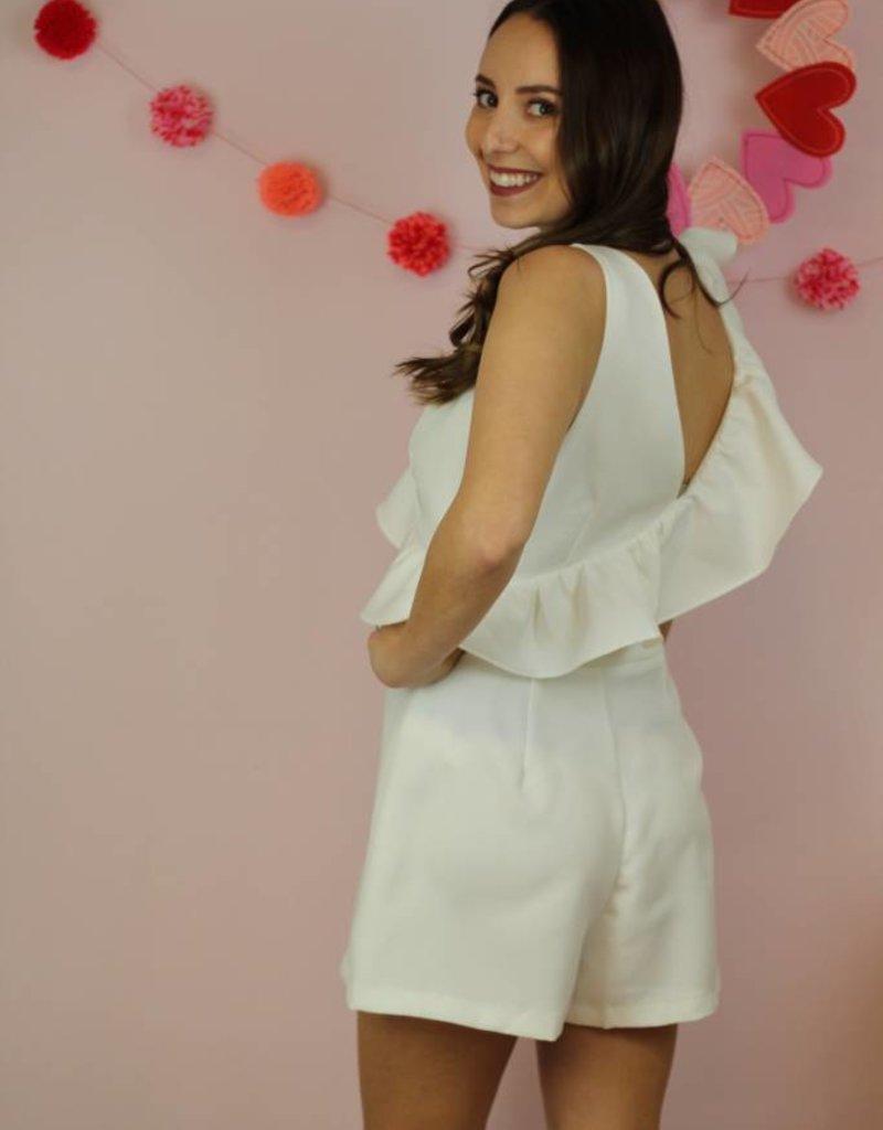 Bride To Be Romper White