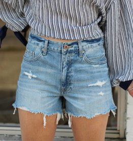 Pistola Nova Relaxed High Rise Cut Off Shorts
