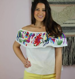 Buddy Love Birdie Top White