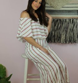Buddy Love Josephine Pink Stripe Jumpsuit