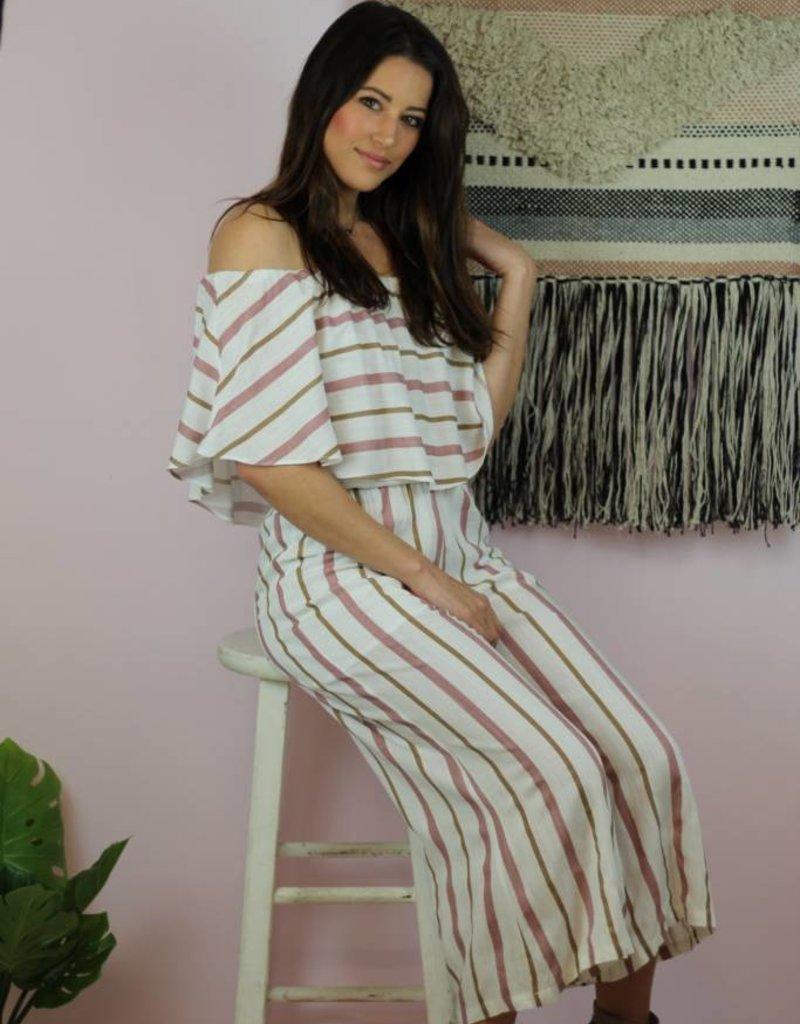 Buddy Love Josephine Pink Stripe Jumpsuit