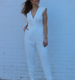 Adelyn Rae Wedding Bells Jumpsuit White