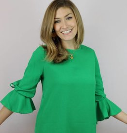 Fashion District Kiss Me Top Kelly Green