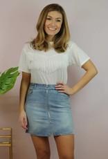 Fashion District Kristen Skirt Light Blue