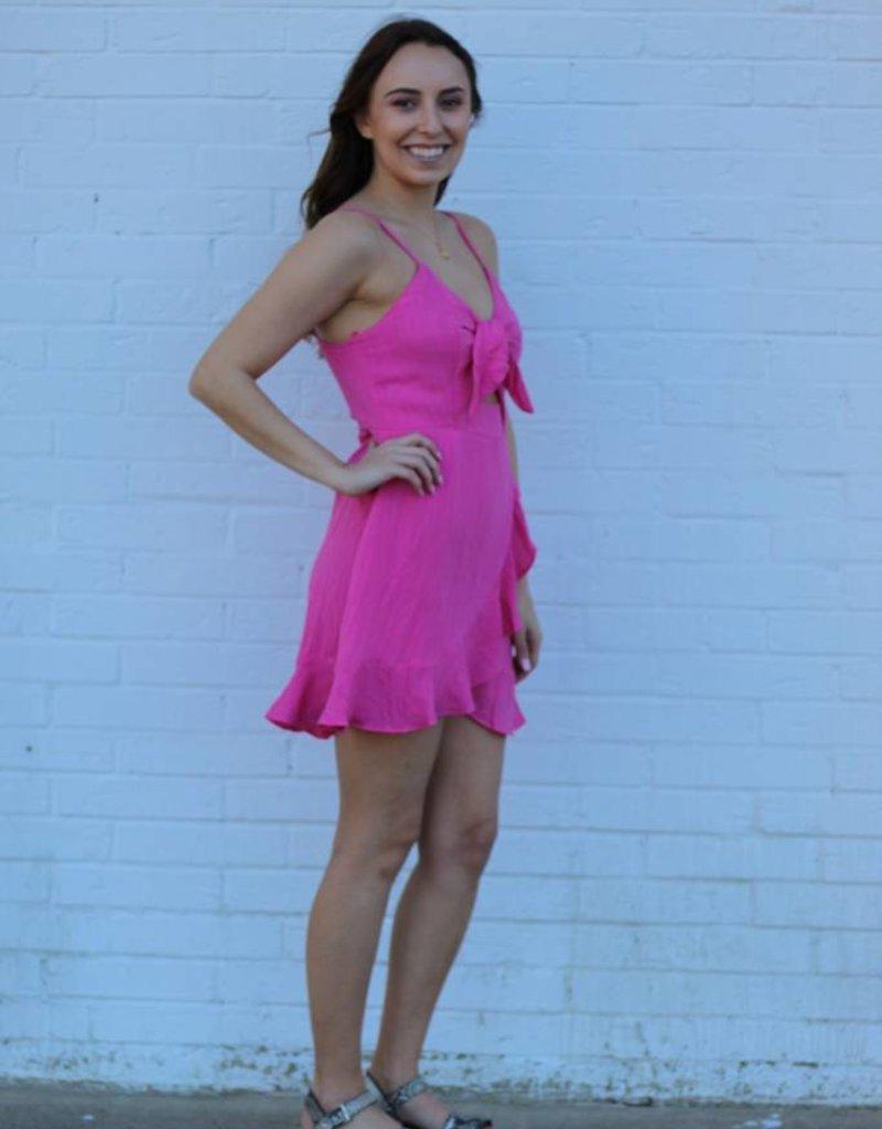 Fashion District Love Story Dress Fuschia