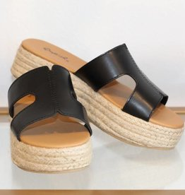 December Shoes Beachie Sandy Flatform Black