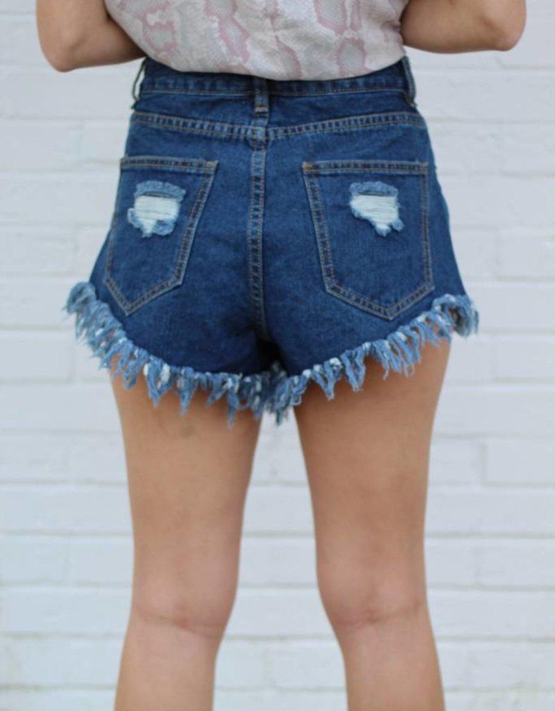 Buddy Love Daisy Dark Wash Shorts