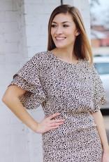 Baby Cheetah Dress Taupe
