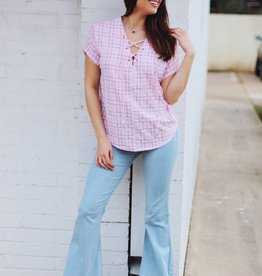 Give Me Gingham Top Light Pink
