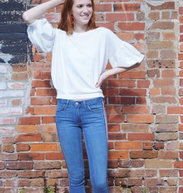 Ivory Chic Sweater Top