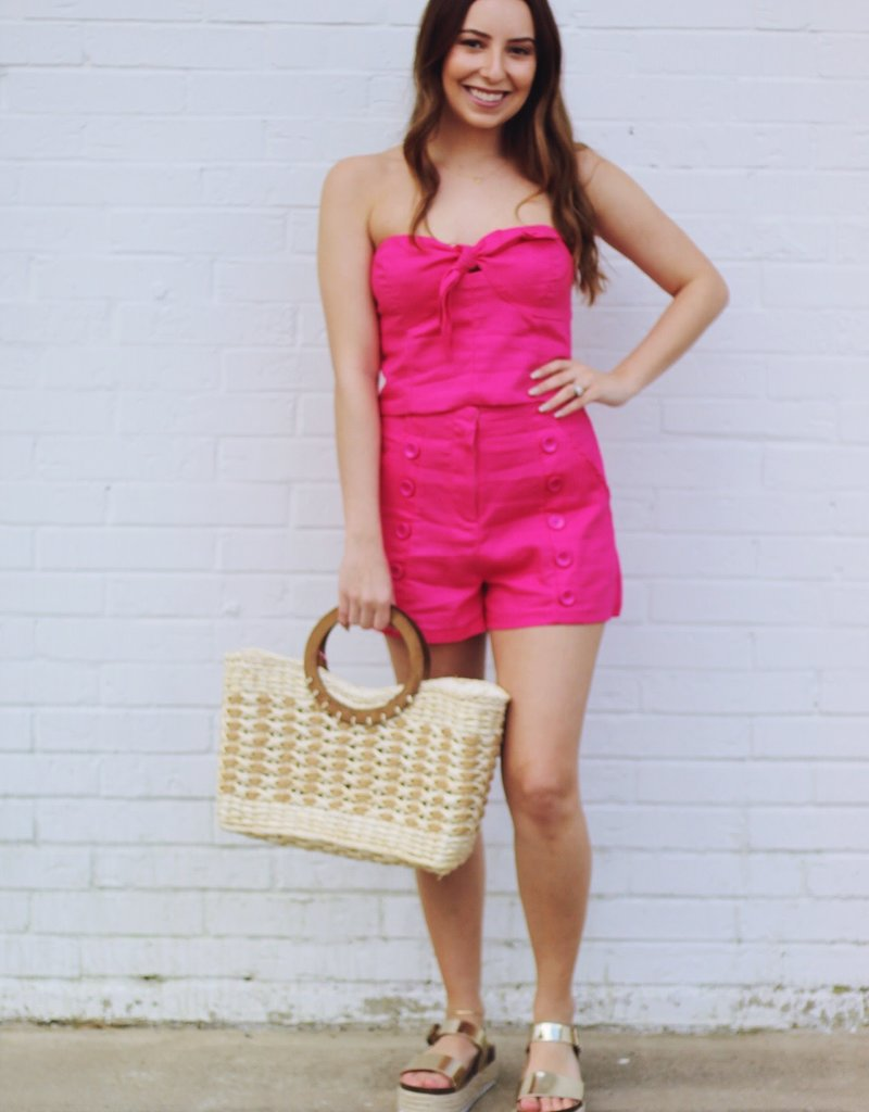 Elle Top Hot Pink