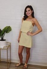 Clueless Tweed Skirt Yellow