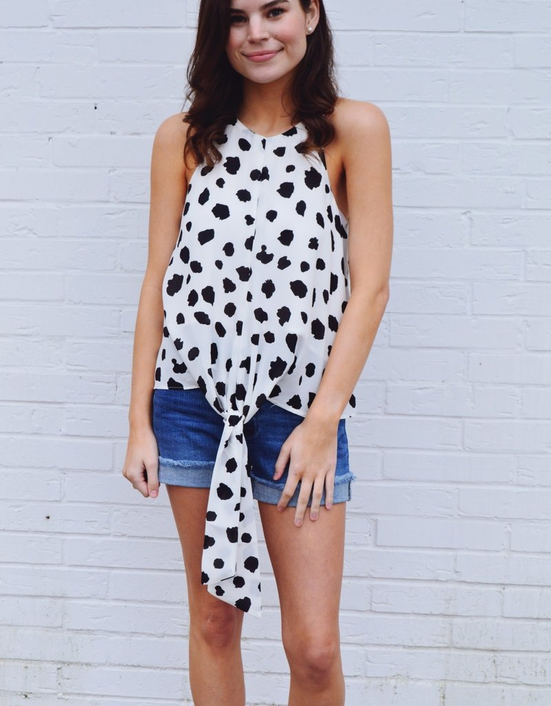 Buddy Love  Candice Dalmatian Top